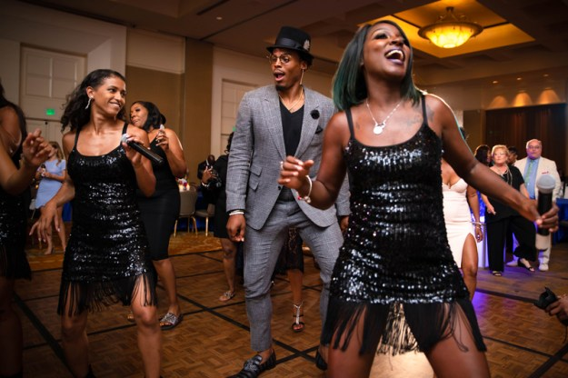 Cam Newton on the dance floor with I Love This Band