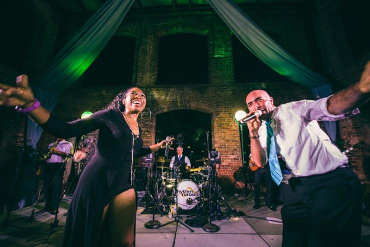 rhythm nation wedding band in greenville
