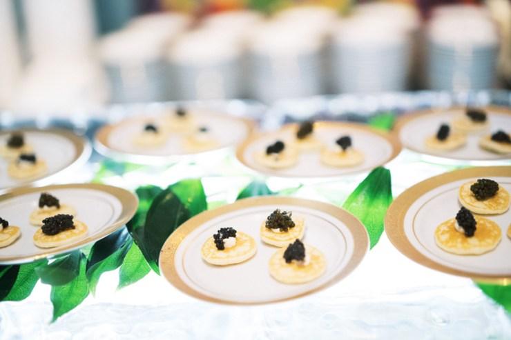 Caviar display at New Orleans wedding
