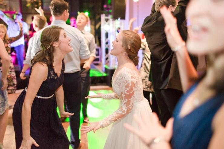 Bride and guests dancing to The Royals band at Kiawah Island Club wedding