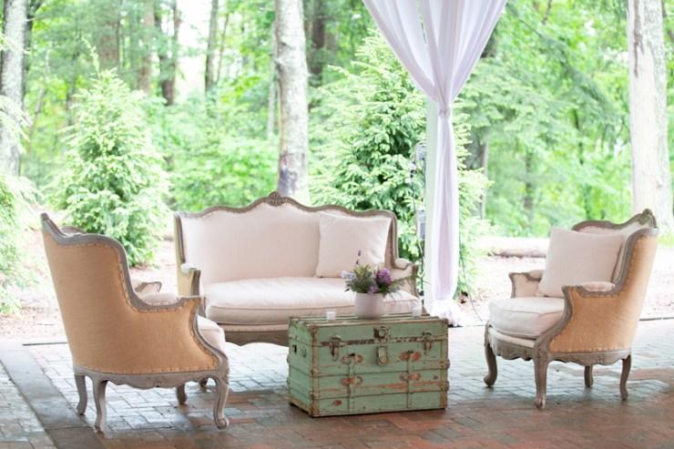 Seating arrangement at Biltmore wedding reception.