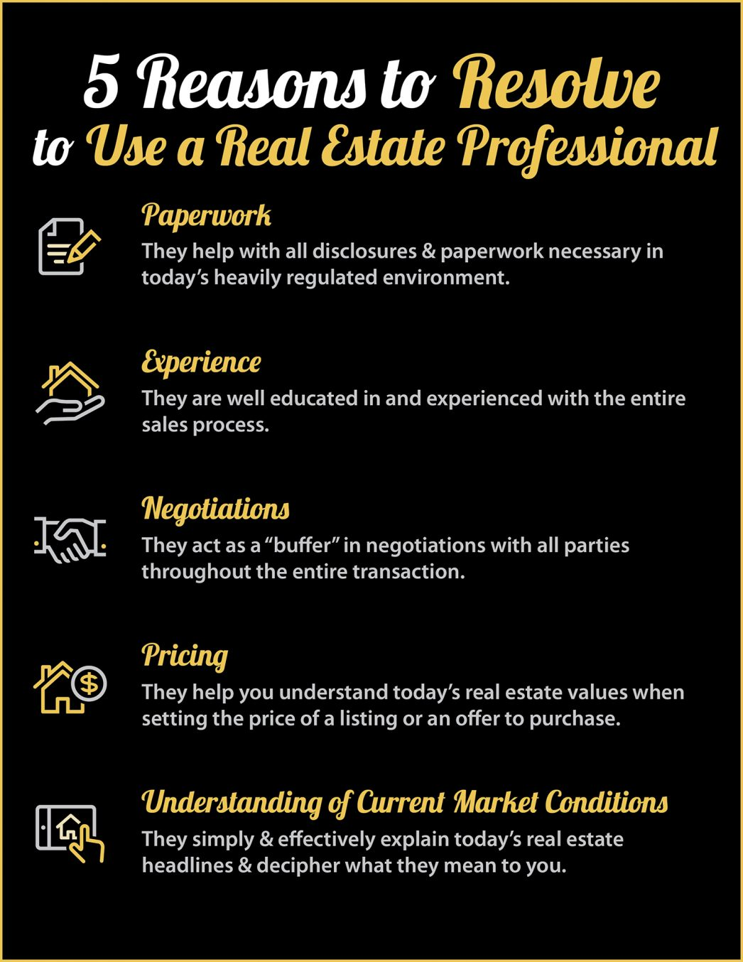 5 Reasons to Resolve to Hire a Real Estate Professional [INFOGRAPHIC] | MyKCM
