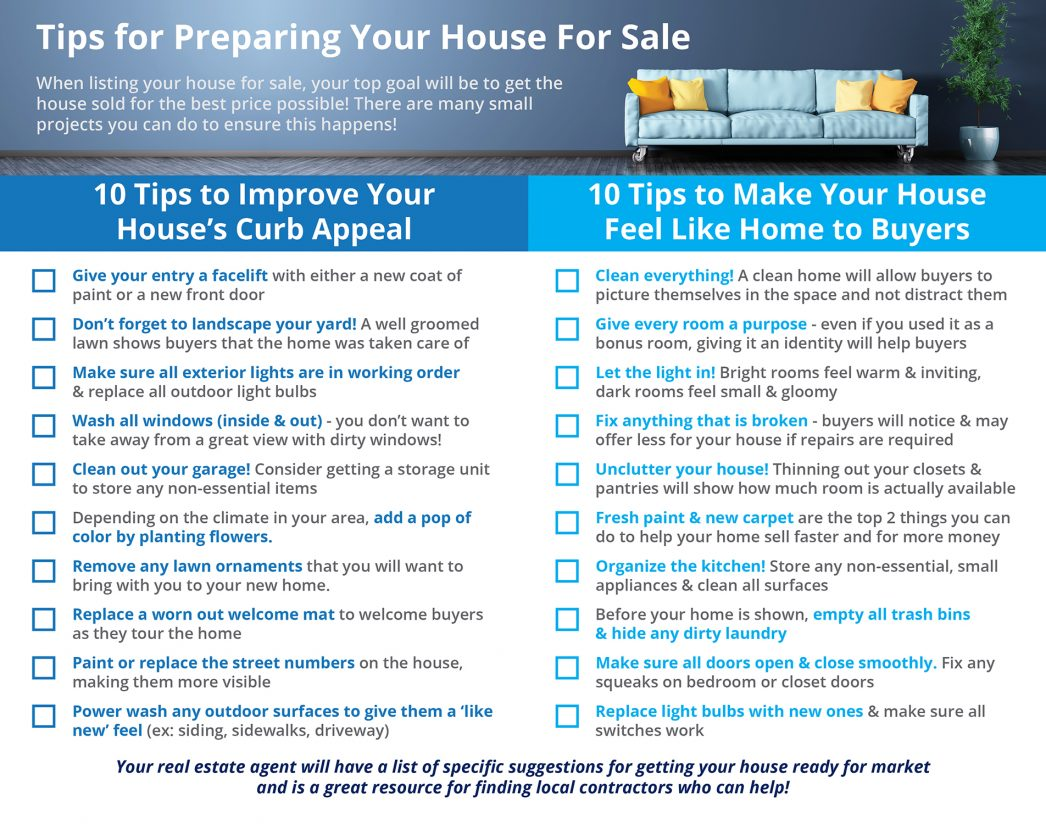 20 Tips for Preparing Your House for Sale [INFOGRAPHIC] | MyKCM
