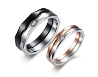 Promise Rings: Matching Promise Rings Two Tone