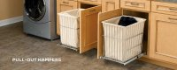 Pull Out Hampers   CabinetParts.com