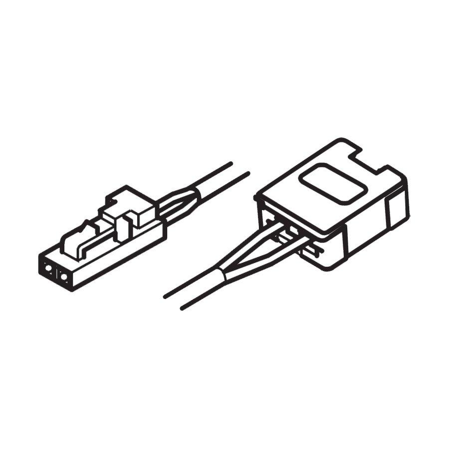 Hafele Loox LED Lead with 12V PLug System & Clip 78-3/4