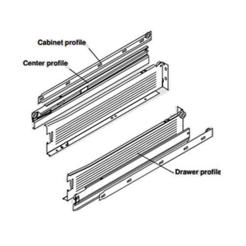 Blum Metabox Slide 3.5 inch Height x 22 inch Length White
