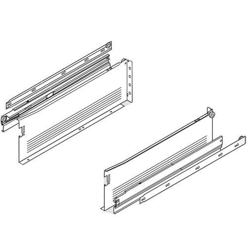 Blum Metabox Slide 6 inch Height x 20 inch Length White