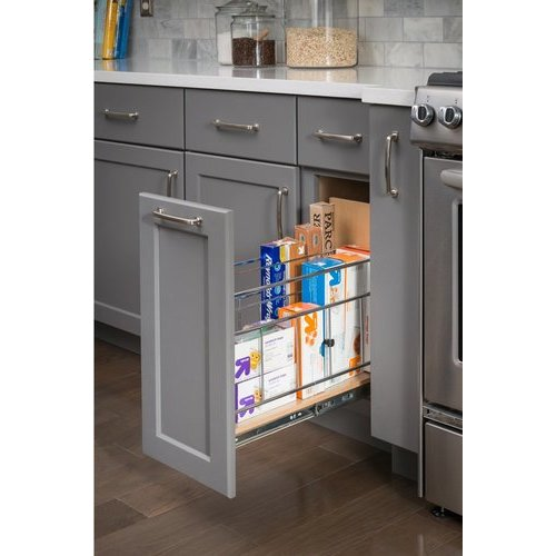 Hardware Resources 8 Inch Base Cabinet Pullout with Built