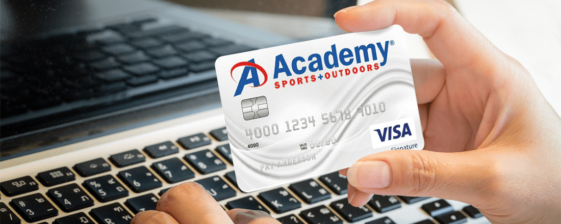 academy credit card the