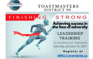 Club Officer Training - Leadership & Online Speech Contest