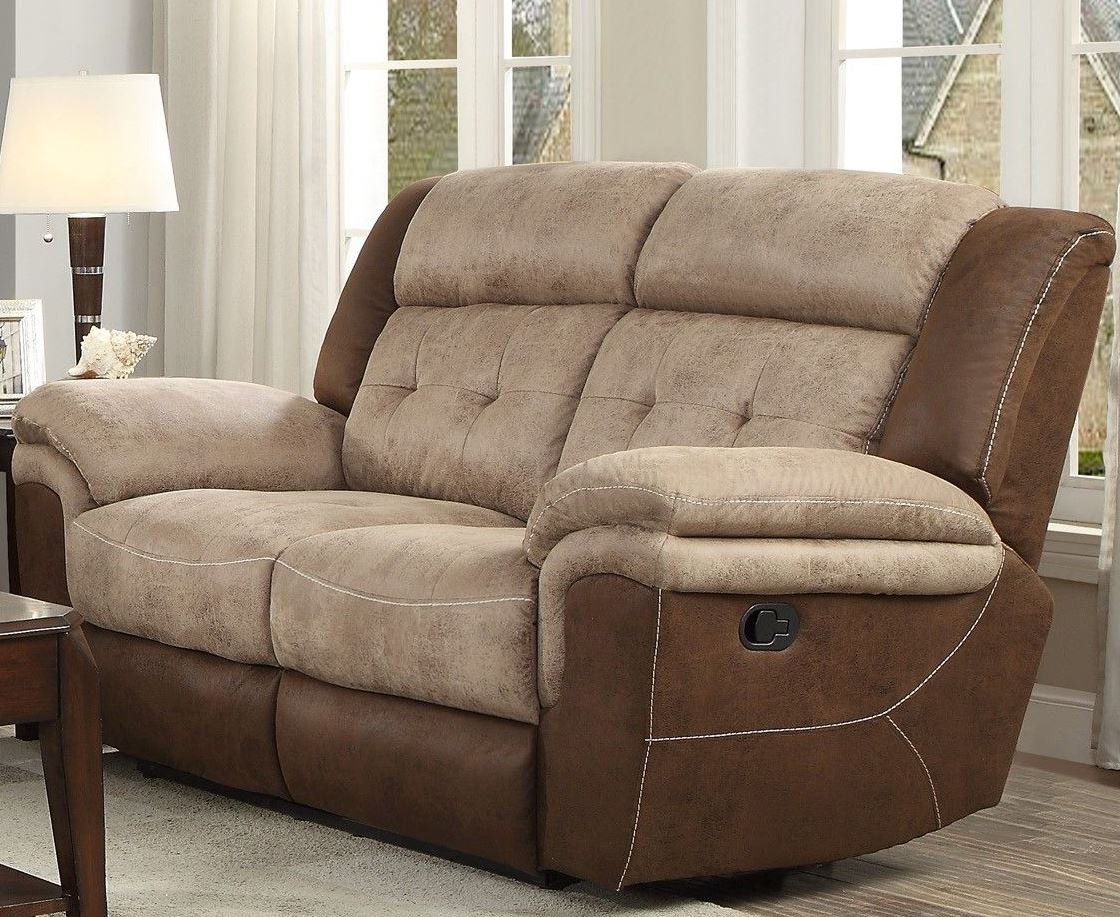 Double Recliner Chair Chai Two Tone Double Reclining Loveseat
