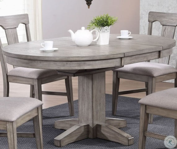 Graystone Burnished Gray Round Dining Table From Eci Furniture Coleman Furniture