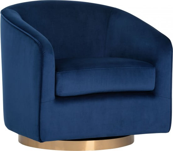 comfortable swivel chair wingback nailhead navy sky hazel from sunpan coleman furniture new
