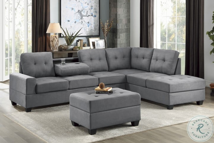 maston dark gray 2 piece raf sectional