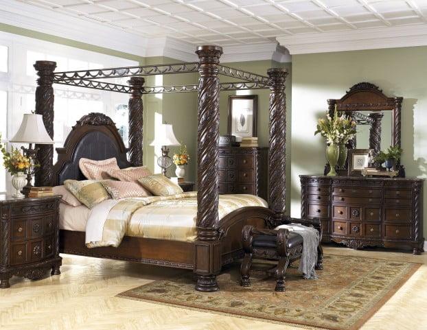 north shore poster canopy bedroom set