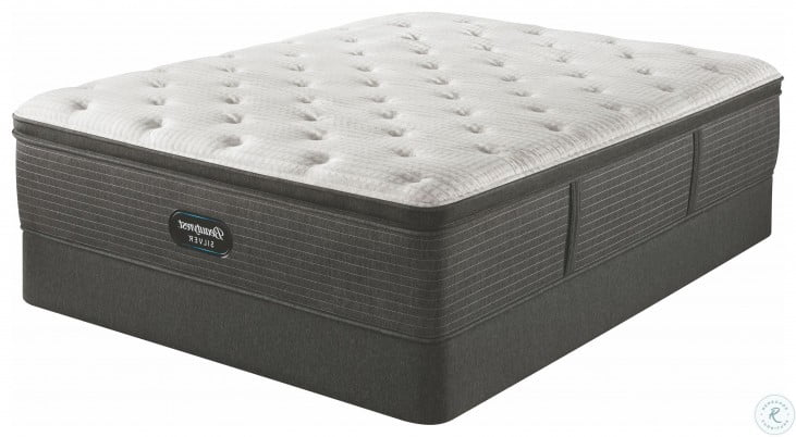 beautyrest silver brs900 c plush pillow top queen size mattress with foundation