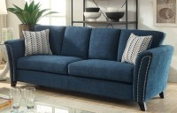 Campbell Dark Teal Sofa, CM6095TL-SF, Furniture of America