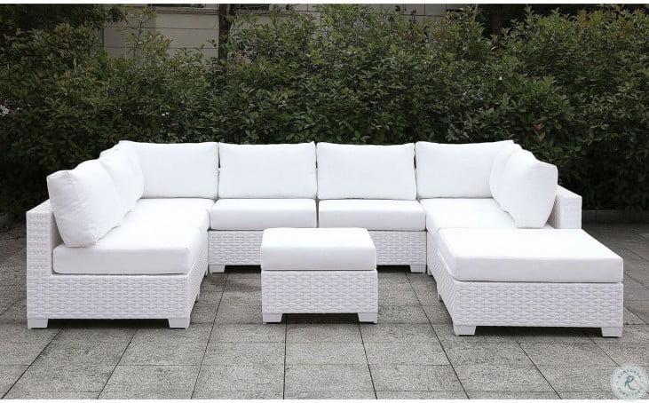 somani white small outdoor modular sectional