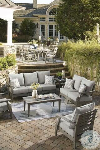 visola gray outdoor conversation set