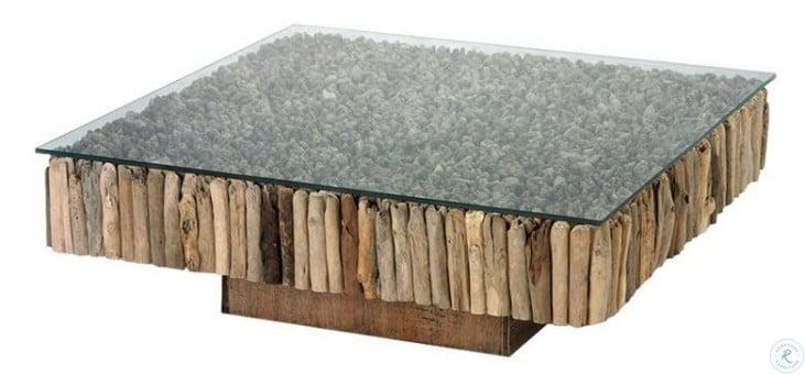 safari 51 natural driftwood coffee table