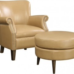 Brown Accent Chair With Ottoman Coleman Lumbar Quattro Oscar Saddle And From Emerald Home Sale