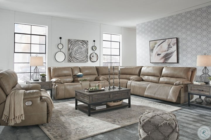 ricmen putty large power reclining sectional