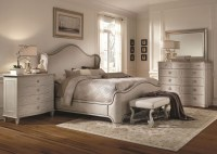 Chateaux Grey Upholstered Shelter Bedroom Set from ART ...