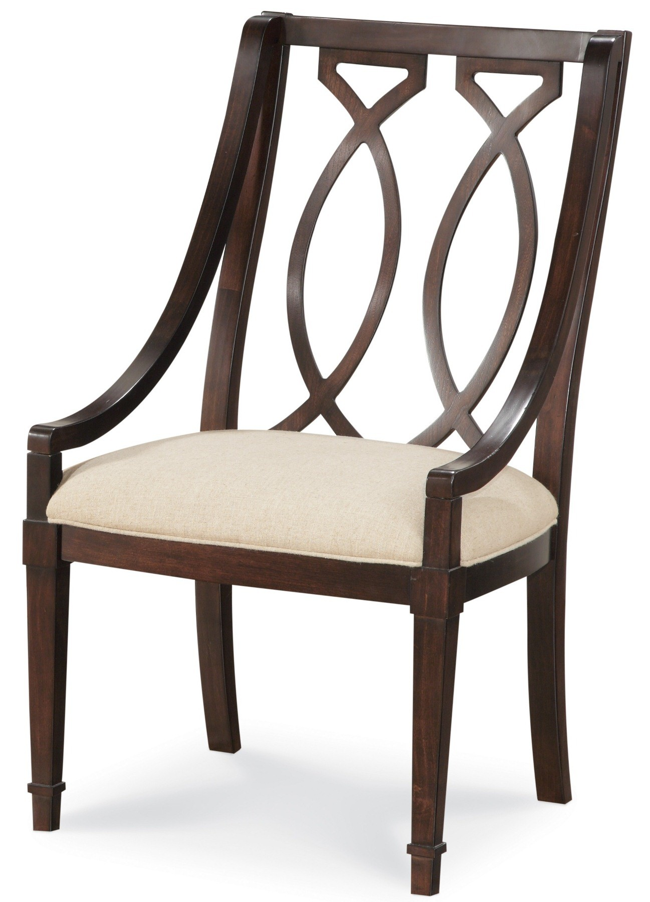 Wood Arm Chair Intrigue Wood Back Arm Chair Set Of 2 From Art 161205