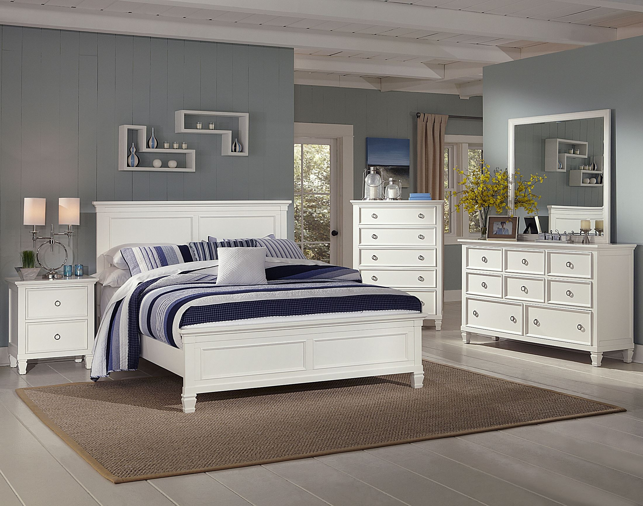 White Dresser And Chest Set