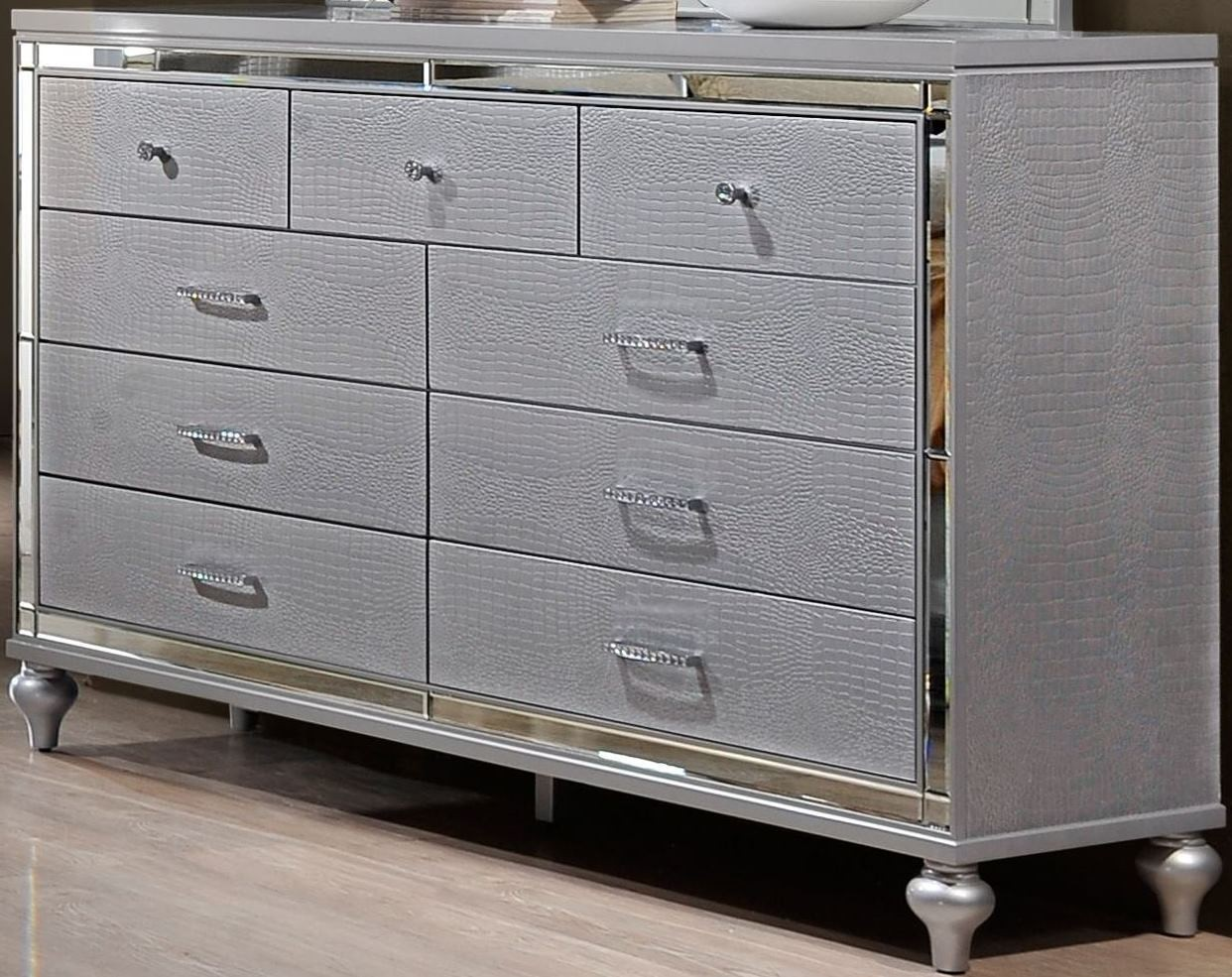 Valentino Silver Dresser from New Classic  Coleman Furniture