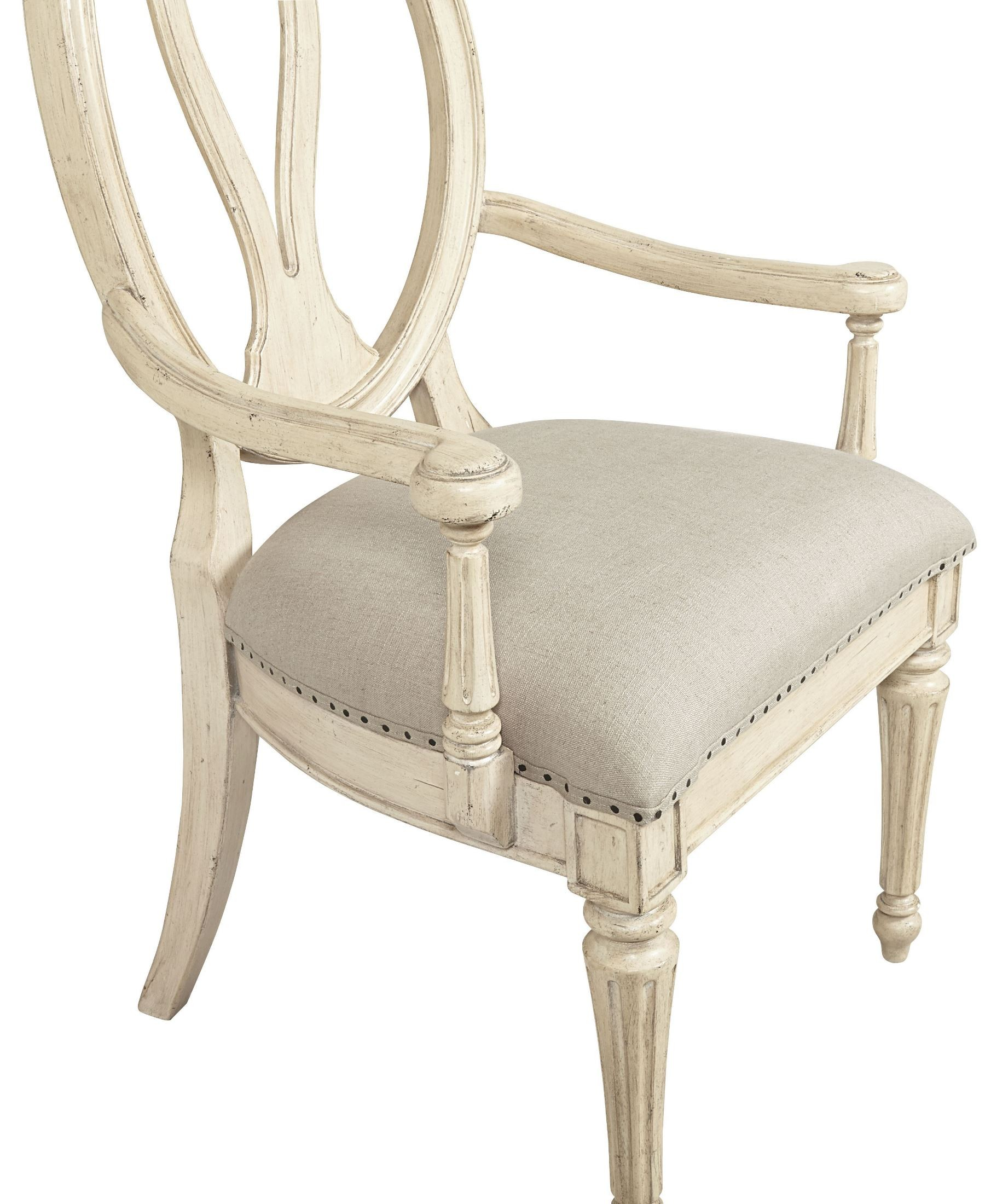 White Arm Chairs European Cottage Vintage White Arm Chair From Stanley 007