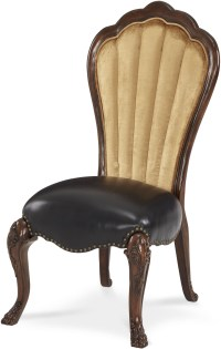 Palace Gates Royal Sable Leather Side Chair, 02333-53, AICO