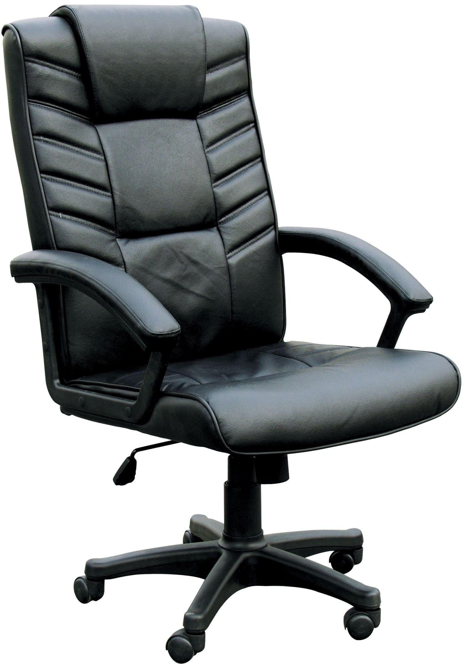 black bonded leather chair red and blue chesterfield office from acme