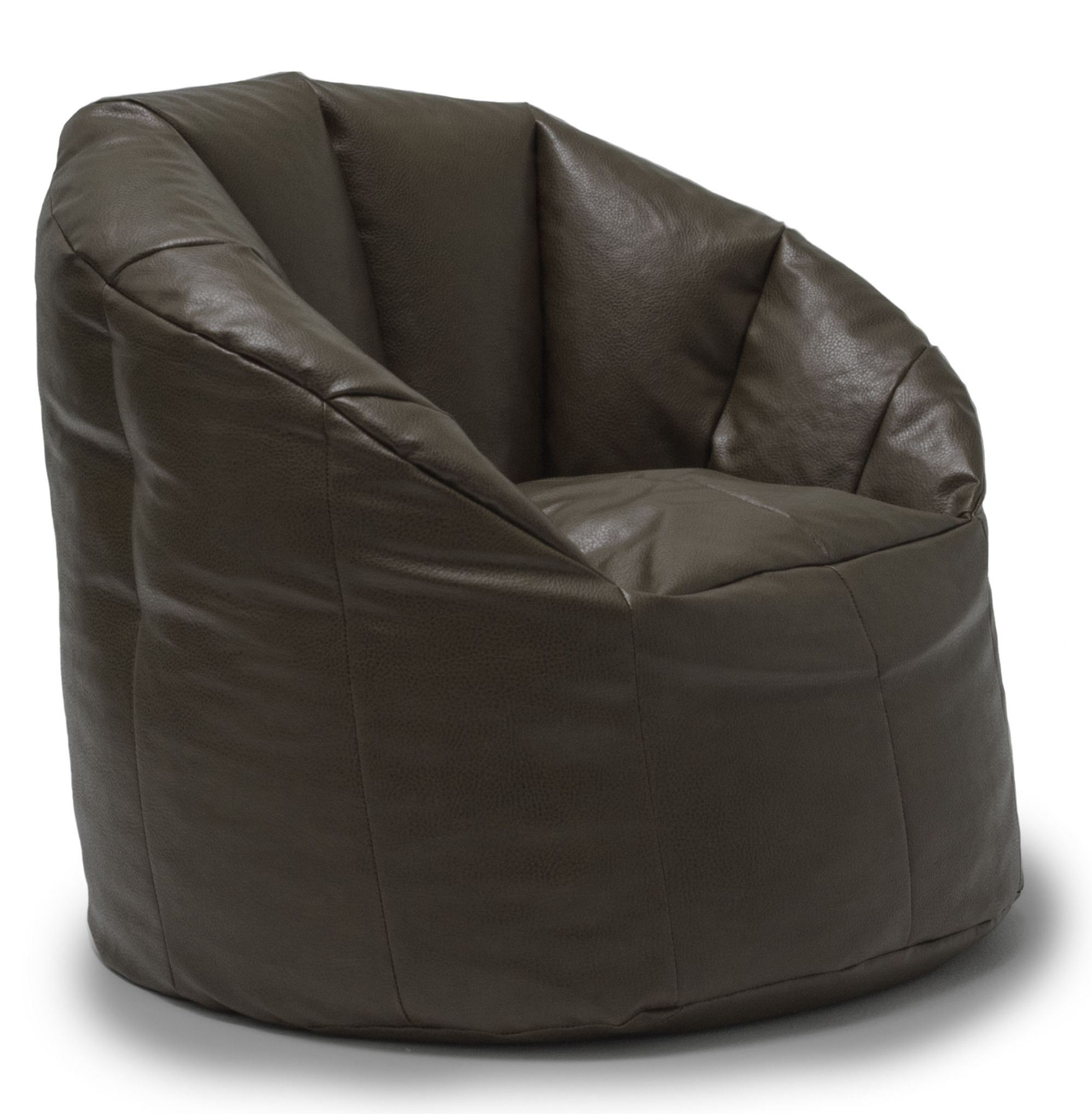 Big Joe Milano Chair Big Joe Milano Brown Vegan Leather Chair From Comfort