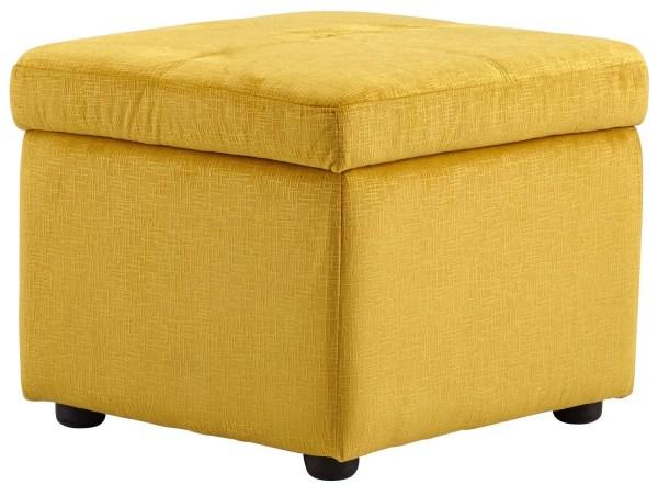 Huffington Yellow Ottoman 8347 Cyan Design