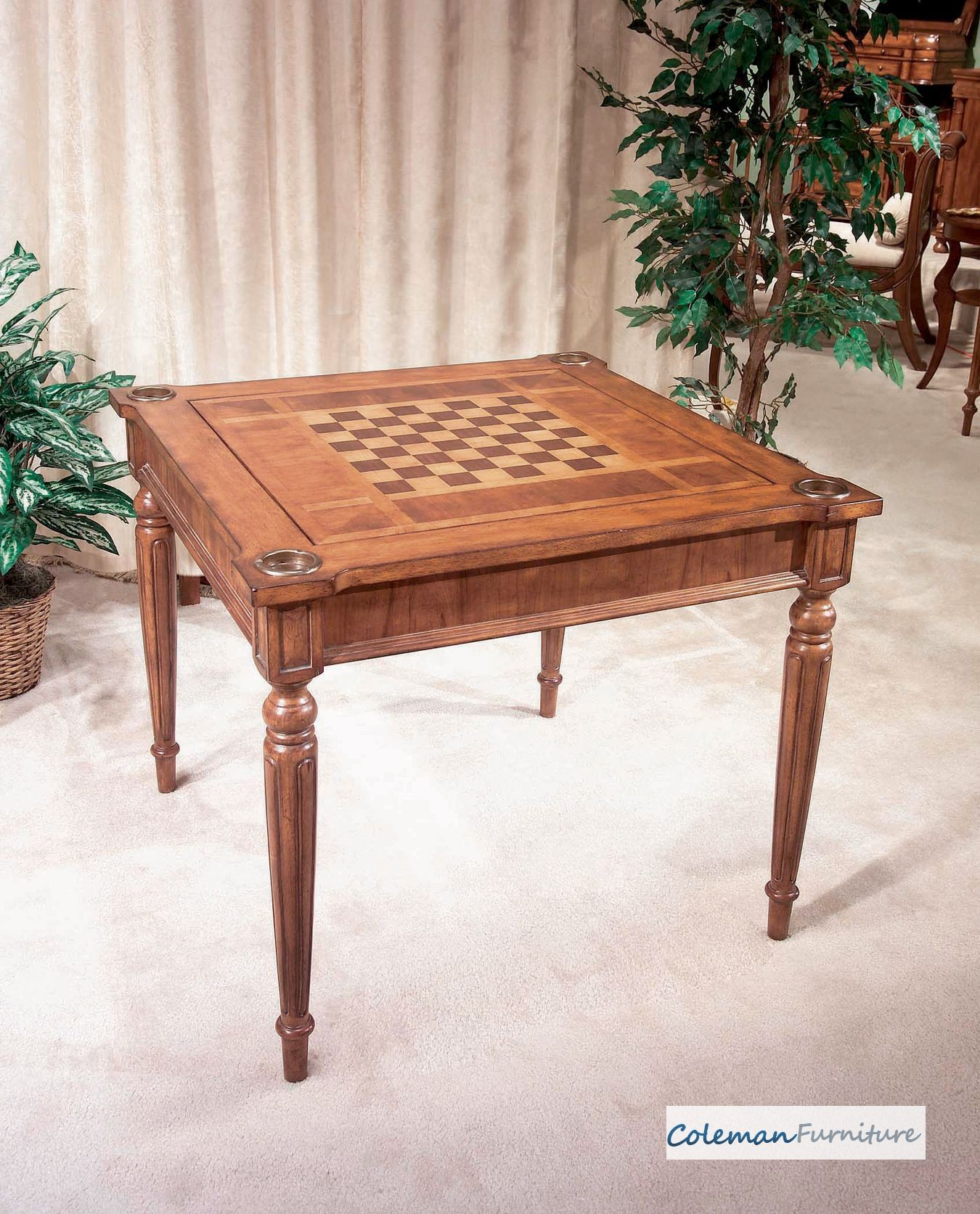 Masterpiece Antique Cherry MultiGame Card Table from