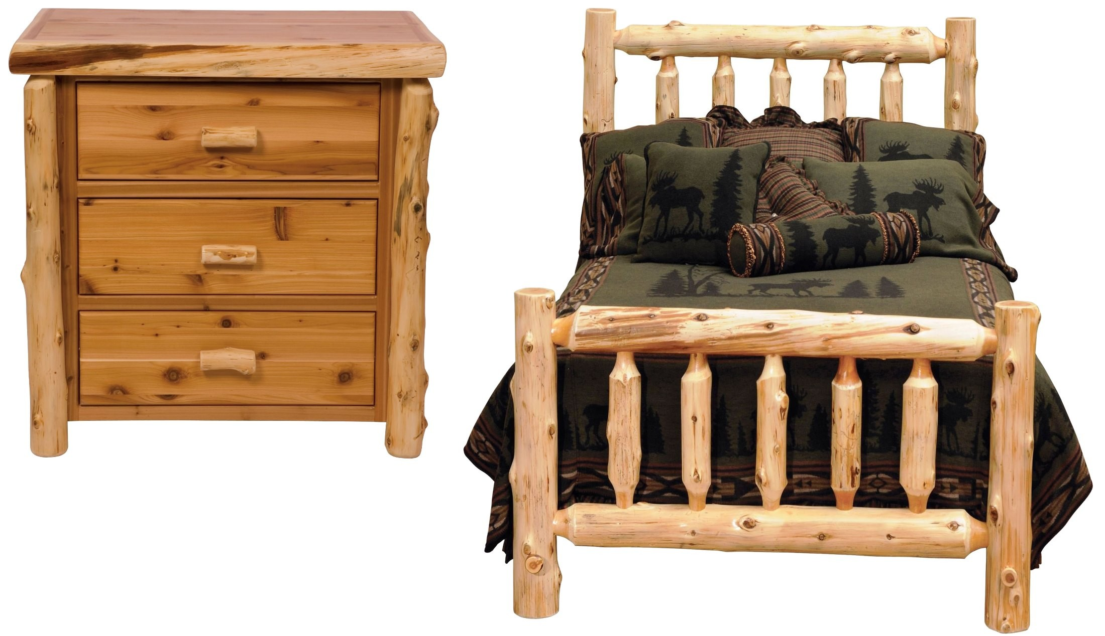 Traditional Cedar Youth Log Bedroom Set from Fireside Lodge 10100  Coleman Furniture