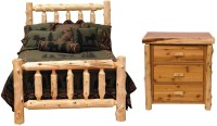 Traditional Cedar Log Bedroom Set from Fireside Lodge ...