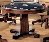 Marietta Black Convertible Bumper Pool & Poker Dining ...