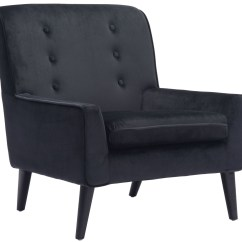 Black Velvet Chair Kidkraft Star Table And Set Coney Arm From Zuo Mod 100224
