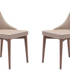 Beige Dining Chairs Chair Mat For Hardwood Floors Moor Set Of 2 From Zuo Coleman Furniture