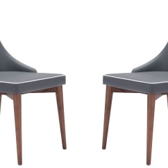 Dark Gray Chair What The Best Gaming For Xbox One And Ps4 Moor Dining Set Of 2 From Zuo Mod 100278