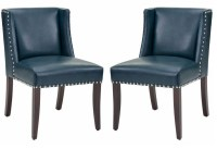 Marlin Blue Leather Dining Chair Set of 2 from Sunpan ...