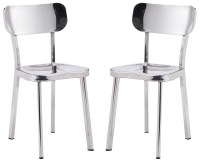 Winter Polished Stainless Steel Dining Chair Set of 2 from ...