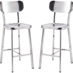 Steel Net Chair Stokke Gravity Winter Polished Stainless Counter Set Of 2