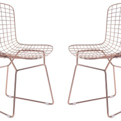 Wire Dining Room Chairs Walmart Tables And Rose Gold Chair Set Of 2 From Zuo Mod 100361