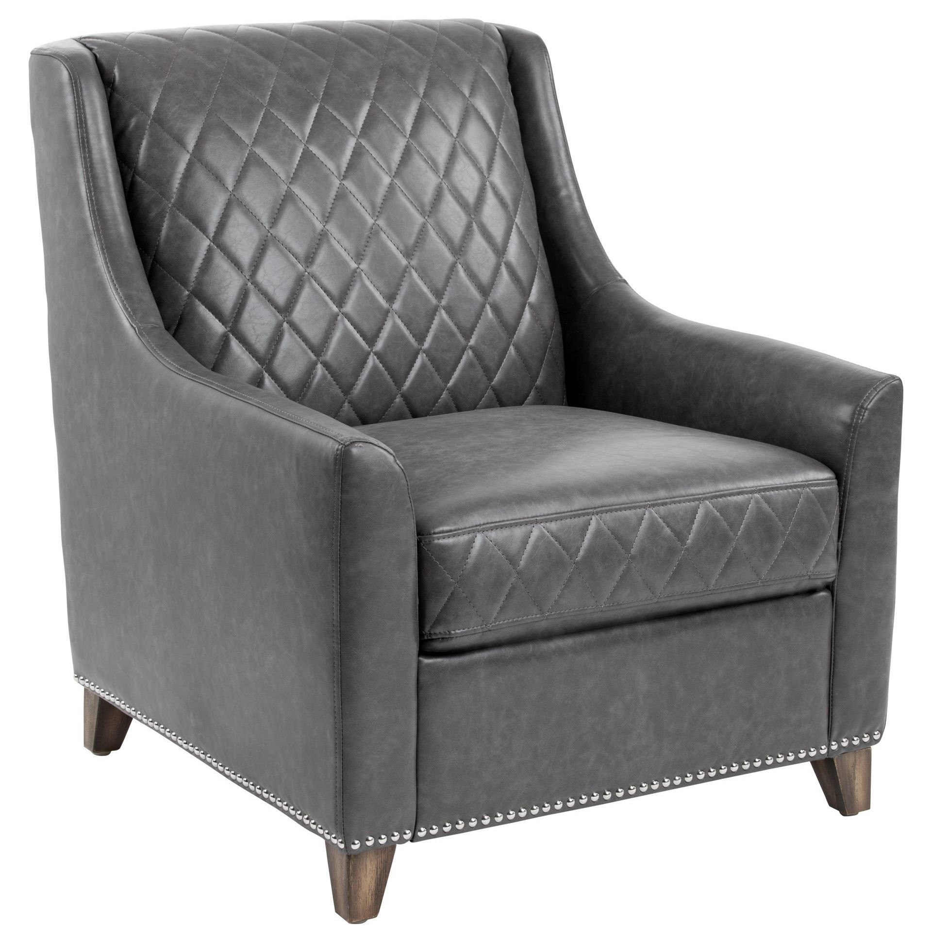 bergamo sectional leather modern sofa gray brothers furniture ash bonded armchair from sunpan
