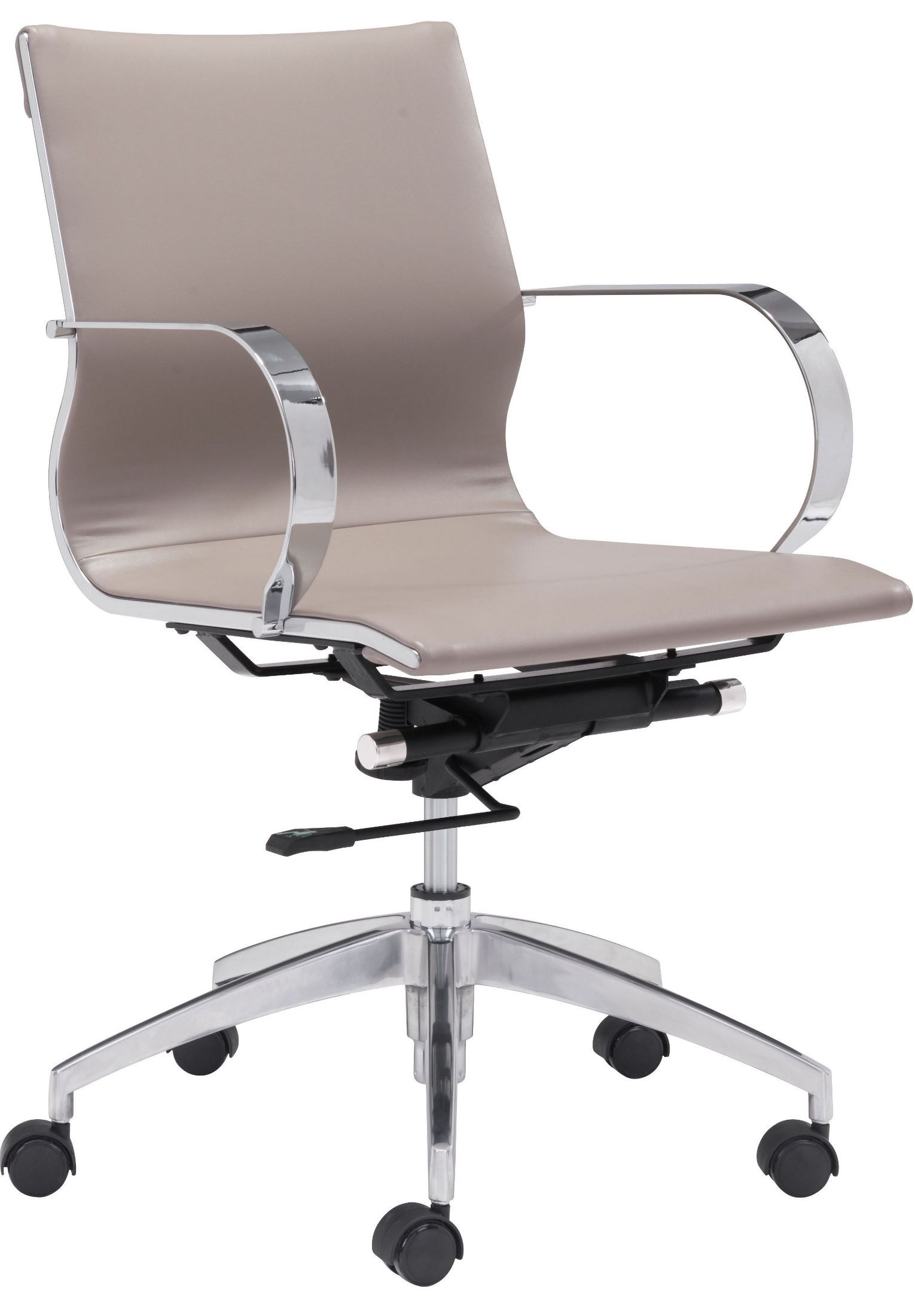 low back office chair herman miller sayl glider taupe from zuo mod 100376