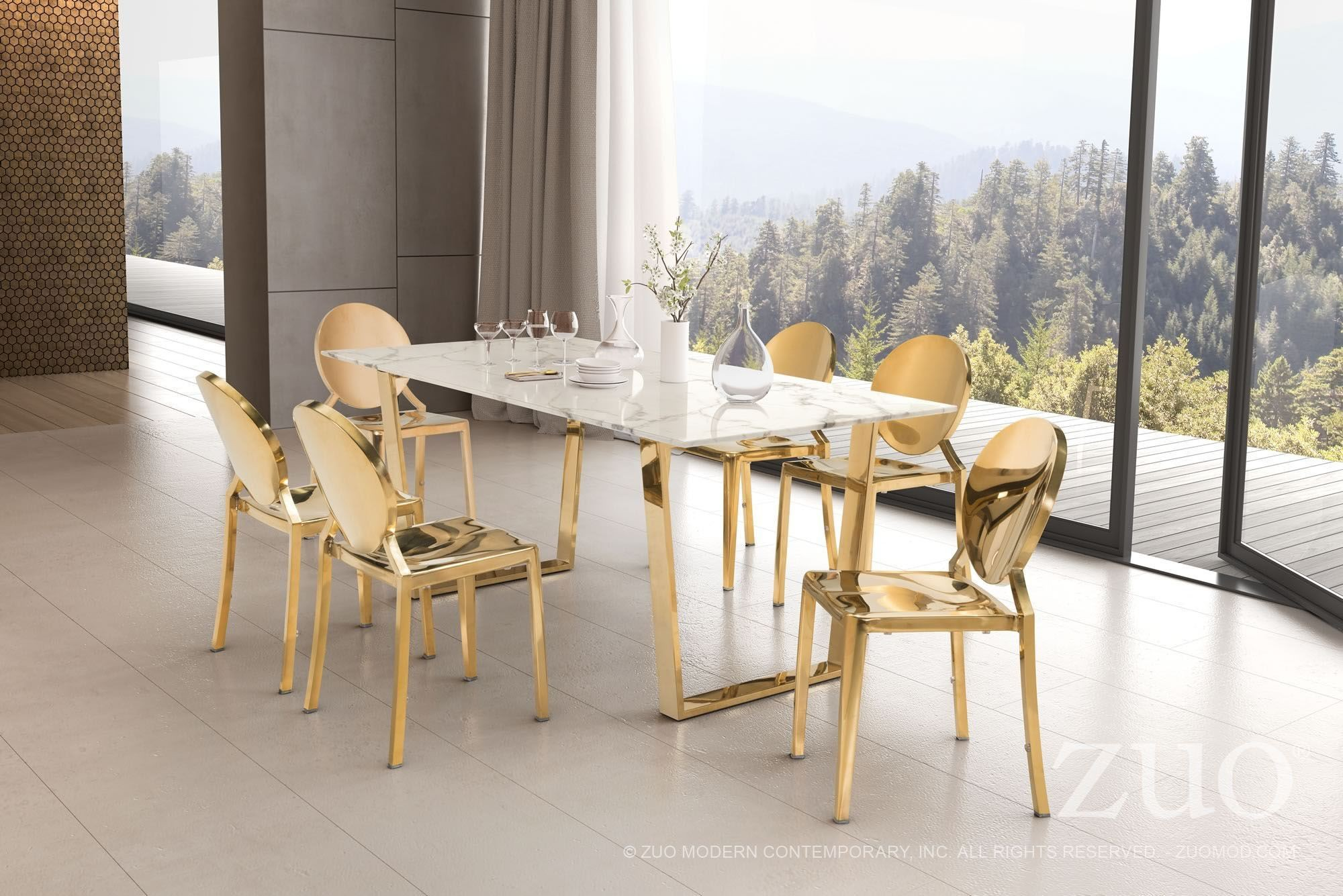 atlas tables and chairs christmas bow chair covers stone gold dining table 100652 zuo modern
